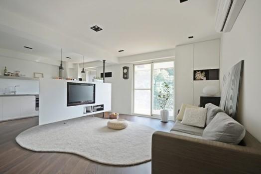 Tri sobe i dnevni boravak u stanu od 70m2 arhitektonski for Raumgestaltung modern