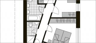 Stan za četveročlanu obitelj sa dvije dječje i jednom spavaćom sobom