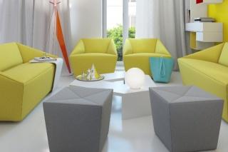Ljubitelji boja uživat će u izgledu ovog malog stana