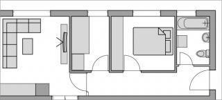 Preuređenje malog stana za bračni par
