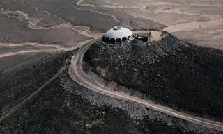Kuća smještena na vrhu vulkana